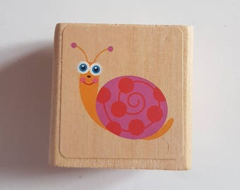 Snail Stamp, Snail Rubber Stamp, Kids stamps, belated birthday stamp, belated birthday cards