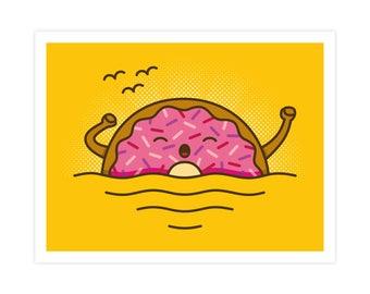 Good Morning Art Print - Cute Doodles
