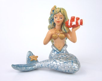 Miniature Mermaid for use in a Fairy Garden