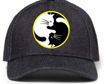 173 Cat Yin Yang Cool Baseball Hat