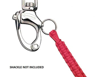 2 - RED Sailboat Shackle Lanyards