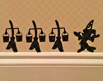 Mouse Sorcerer and Magic Broom Decals