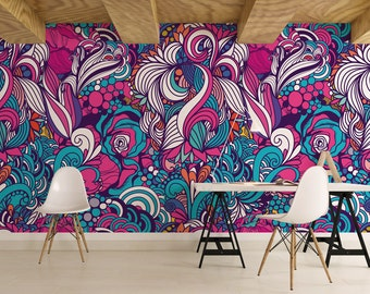 Abstract / Removable Wallpaper / Wall Decor / Wall Mural / Traditional Wallpaper  / Non Woven / 125 W x 250 H cm