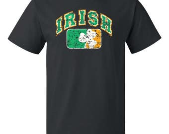 IRISH distressed - Men's T-shirt - Saint Patricks Day