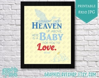 Printable 8x10 Dumbo Baby to Love Typography Art | Digital JPG File, Instant Download