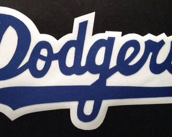 Huge Los Angeles Dodgers Iron On Patch