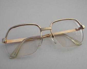 logo paris glasses vintage gold frame glasses made in france unique glasses retro glasses vintage eyewear eyewear gift gift idea 2