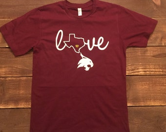 Texas State/SWT Love Shirt
