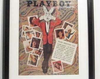 Vintage Playboy Magazine Cover Matted Framed : January 1965 - Mr. Playboy