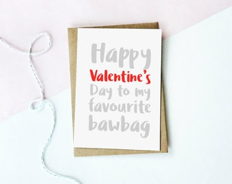 Bawbag Valentine's Day Card, Scottish Valentine's Card, Funny Card, Love Card, Valentine's Day Card, Love card