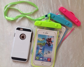 Waterproof glow in the dark cell phone case