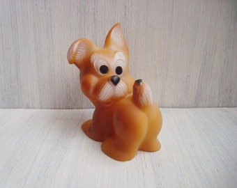 Vintage rubber toy dog Soviet vintage Toys for bath Made in USSR in 1970