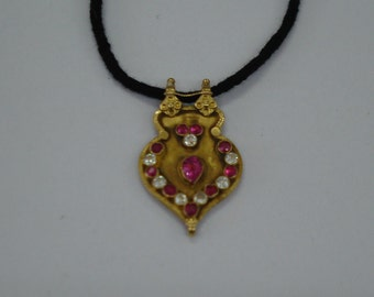 21kt vintage antique tribal old gold pendant necklace gold jewelry