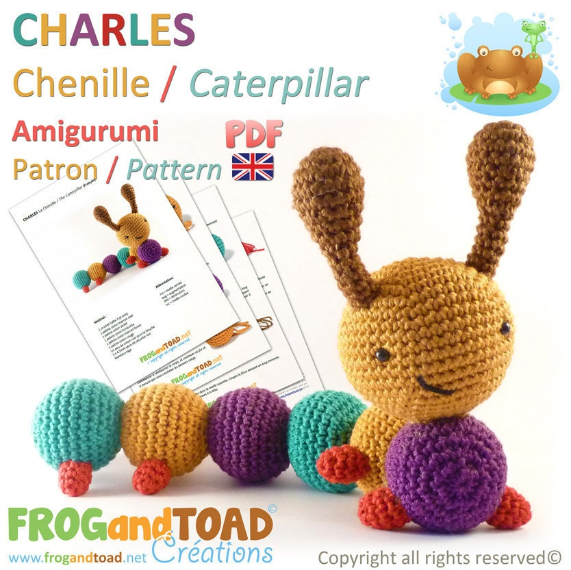 Caterpillar - Amigurumi Crochet PDF Pattern - BRITISH Terminology ...