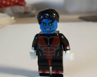 Nightcrawler Custom Minifigure 100% LEGO Compatible! Marvel Comics X-Men Avengers Character