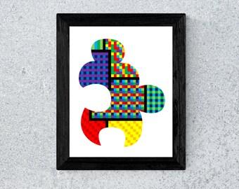 Puzzle Piece Print