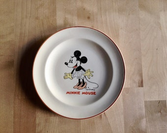 1930s Minnie Mouse plate Patriot China