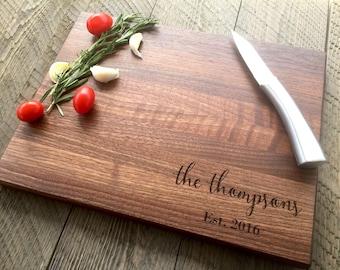 Custom Cutting Board, Personalized Cutting Board, Wedding Gift, Engraved cutting board, Wedding Present, Anniversary gift, Walnut