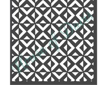 Geometric Modern Stencil - 12x12