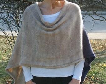 Women's Capelet, Women's Poncho, Knitting Pattern, Pattern to knit, Poncho to Knit, Capelet to knit, Spring poncho, Spring Wrap