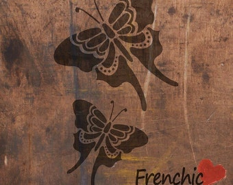 Butterflies Butterfly Tattoo Collection Quirky Ontrend Frenchic Chalk Furniture Paint A4 Stencil Wall Art Picture by Lear Creative Interiors