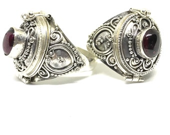 Dryana 925 Bali Silver Poison Ring