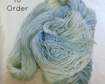 Sky - Hand-Dyed / Hand-Painted Yarn - Superwash Merino Wool - Dyed To Order