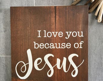 Ordinaire I Love You   Religious Wall Art   Inspirational Wood Sign   Christian Decor    Preschool