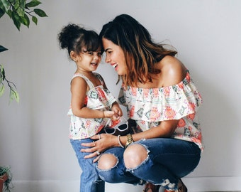 Mommy and me shirts, mother daughter shirts, baby girl shirt, diamond shirt matching outfit, ruffle shirt outfits, mommy and me clothing,