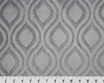 Minky Fabric by the Yard in Pewter Grey by Shannon Fabrics