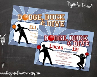 Dodgeball Digital Birthday Invitation