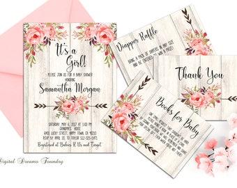 baby shower invitation printable