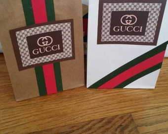 Gucci inspired favor bags.