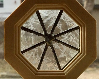 Octagon stained glass window