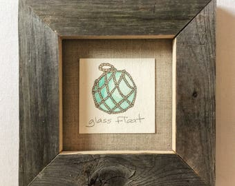 diminutive doodle - glass float