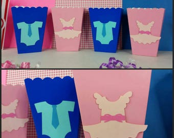 10 Gender Reveal Themed Favor/ Snack Boxes