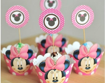 Theme Cupcake Wrappers & Toppers picks, Birthday Party Decoration Cup Cake Pick (1 dz).