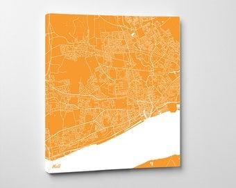 Hull Street Map Print Map of Hull Street Map Wall Art 7176S