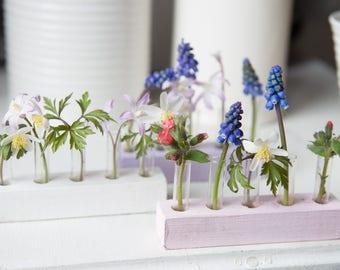 Unique gift/cute bud vase/mini test tubes/modern vase/single bud vase
