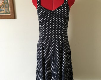 Black & white polka dot summer dress