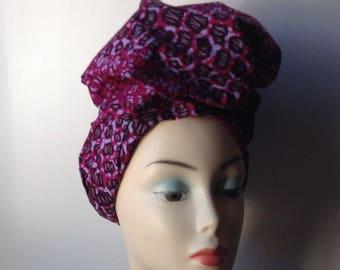 African print headtie, Ankara headwrap