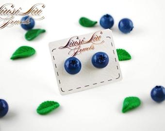 Berry earrings- blueberries earrings