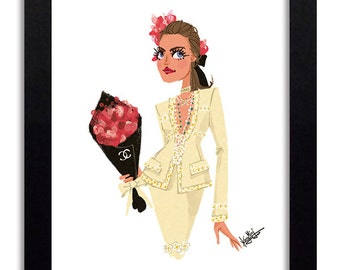 Chanel - Fashion Illustration Print Fashion Print Fashion Art Fashion Wall Art Fashion Poster Fashion Sketch Art Print
