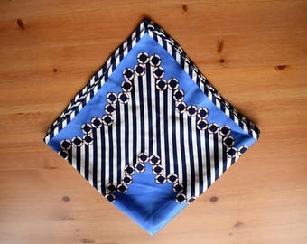 Vintage scarf with nautical print