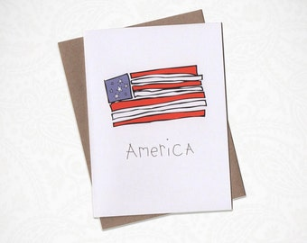America Greeting Card!