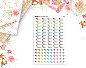 Birthday/Celebration Stickers for your PERSONAL SIZE planner (P228)