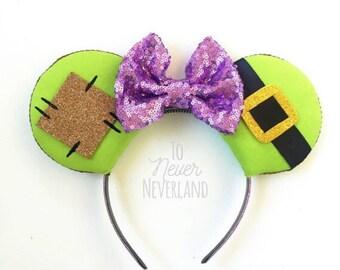 Dopey Ears, Dopey Mickey Ears, Dopey Challenge Mickey Ears, 7 Dwarfs Ears, Dopey Challenge Ears Headband, Snow White Ears, PRE ORDER 2-3 W