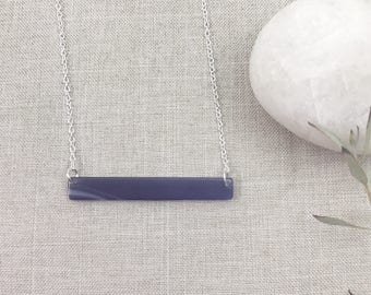 Skinny Bar Necklace - Thin Bar Necklace - Layered Necklace - Purple Pendant - Minimalist Jewelry - Colored Bar Necklace - Bridesmaid Gift