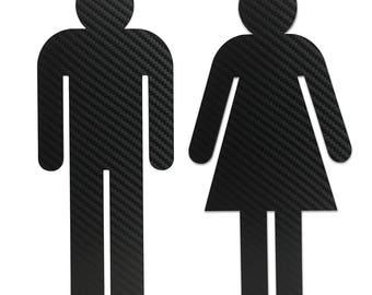 Bathroom Sign Male vintage / retro look restroom signs men and