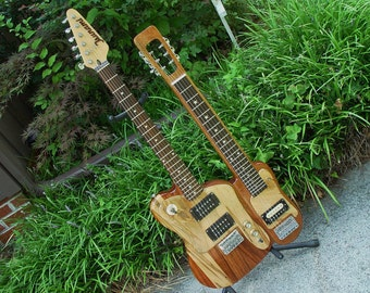 Tsunami Guitars Guit-Steel double neck Guitar and Slide Steel as same unit.